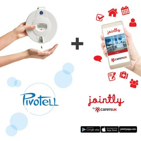 Pivotell Advance GSM pill dispenser + Jointly app
