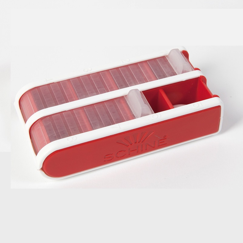 Pivotell Pocket Pill Dossette Box in Red